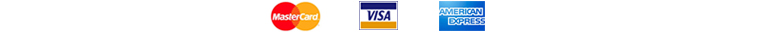 We accept MasterCard, Visa, and American Express